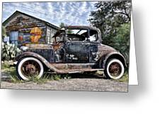 1928 Ford Model A Greeting Card