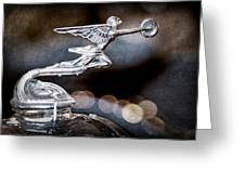 1930 Packard Model 733 Convertible Coupe Hood Ornament Greeting Card