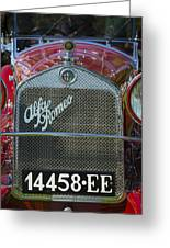 1931 Alpha Romeo Type 6c 1750 Gran Sport Greeting Card