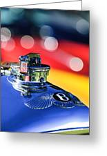 1931 Bentley 4.5 Liter Supercharged Le Mans Hood Emblem -1122c Greeting Card