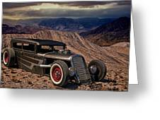 1931 Ford Hot Rod Sedan Greeting Card