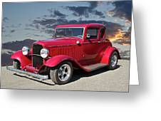 1932 Ford '5 Window' Coupe Greeting Card