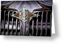 1933 Chrysler Sedan Grille Emblem Greeting Card