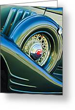 1933 Pontiac Spare Tire -0431c Greeting Card