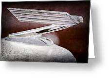 1934 Chevrolet Hood Ornament Greeting Card