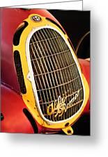 1935 Alfa Romeo 8c-35 Grille Emblem -0006c Greeting Card