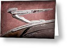 1936 Auburn Speedster Replica Hood Ornament Greeting Card