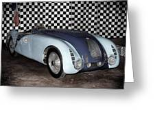 1936 Bugatti 57g Tank Greeting Card