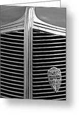 1936 Desoto Airstream Grille Emblem Greeting Card