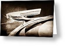 1937 Chevrolet 2 Door Sedan Hood Ornament Greeting Card