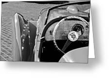 1937 Peugeot 402 Darl'mat Legere Speacial Sport Roadster Recreation Steering Wheel Emblem Greeting Card