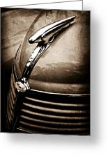 1938 Ford Hood Ornament Greeting Card