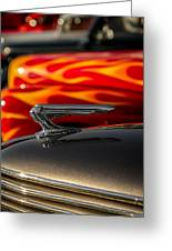 1939 Graham Coupe Hood Ornament Greeting Card by Ron Pate