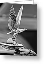 1940 Packard Custom Super-eight 180 Convertible Victoria Hood Ornament Greeting Card