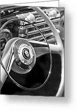 1942 Lincoln Continental Cabriolet Steering Wheel Emblem Greeting Card