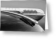 1947 Plymouth Hood Ornament Greeting Card