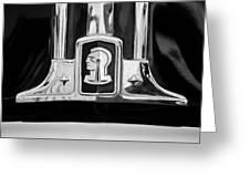 1948 Pontiac Streamliner Woodie Station Wagon Emblem Greeting Card