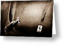 1950 Ferrari Hood Emblem Greeting Card