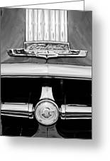 1950 Pontiac Grille Emblem Greeting Card