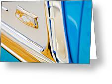 1953 Chevrolet Belair Convertible Emblem Greeting Card