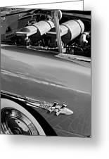 1953 Hudson Hornet Sedan Engine Greeting Card