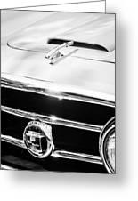 1953 Nash-healey Convertible Grille Emblem Greeting Card