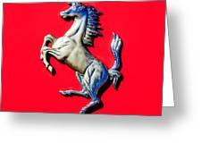 1954 Ferrari 500 Mondial Spider Series I Emblem Greeting Card