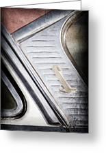 1955 Lincoln Capri Emblem Greeting Card