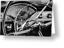 1956 Chevrolet Belair Steering Wheel Greeting Card