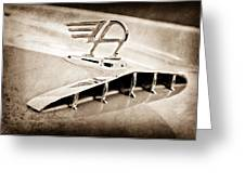 1957 Austin Cambrian 4 Door Saloon Hood Ornament Greeting Card