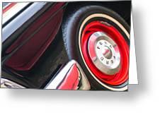 1957 Ford Fairlane Convertible Wheel Emblem Greeting Card