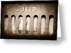1957 Jeep Emblem Greeting Card