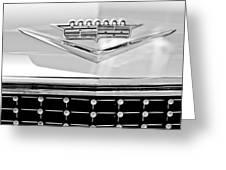 1958 Cadillac Eldorado Biarritz Convertible Emblem Greeting Card by Jill Reger