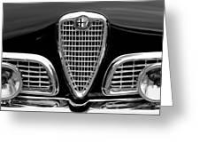 1959 Alfa Romeo Giulietta Sprint Grille Greeting Card