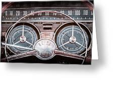 1959 Buick Lesabre Steering Wheel Greeting Card