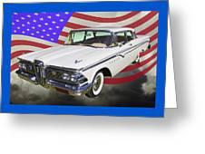 1959 Edsel Ford Ranger Greeting Card