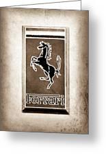 1959 Ferrari 250 Gt Emblem Greeting Card