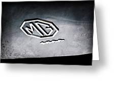 1959 Mg A 1600 Roadster Emblem Greeting Card