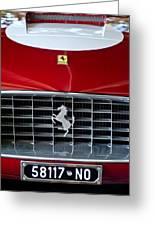 1960 Ferrari 250 Gt Swb Berlinetta Competizione Grille Emblem Greeting Card