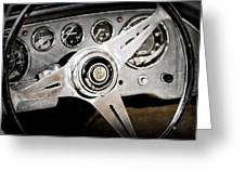 1960 Maserati Steering Wheel Emblem Greeting Card