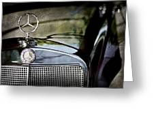 1960 Mercedes-benz 220 Se Convertible Hood Ornament Greeting Card