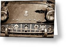 1960 Triumph Tr 3 Grille Emblems Greeting Card