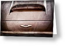 1961 Aston Martin Db4 Coupe Emblem Greeting Card
