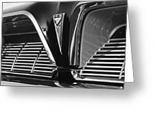 1961 Pontiac Catalina Grille Emblem Greeting Card