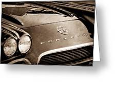 1962 Chevrolet Corvette Hood Emblems Greeting Card