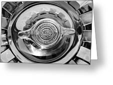 1962 Ghia L6.4 Coupe Wheel Emblem -2169bw Greeting Card