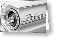 1963 Ford Falcon Futura Convertible Taillight Emblem Greeting Card
