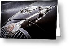 1964 Jaguar Mk2 Saloon Hood Ornament And Emblem Greeting Card