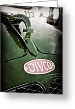 1965 Divco Milk Truck Hood Ornament Greeting Card