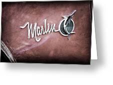 1965 Rambler Marlin Emblem Greeting Card